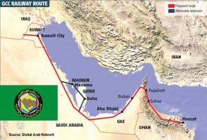 GCC railway route