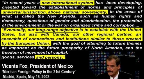Vicente Fox - NAmrcn Union